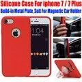 Original memuff case de silicona suave para el iphone 7 plus tpu Contraportada para iphone7 Más Juego Para Magnética Soporte para Coche IP713