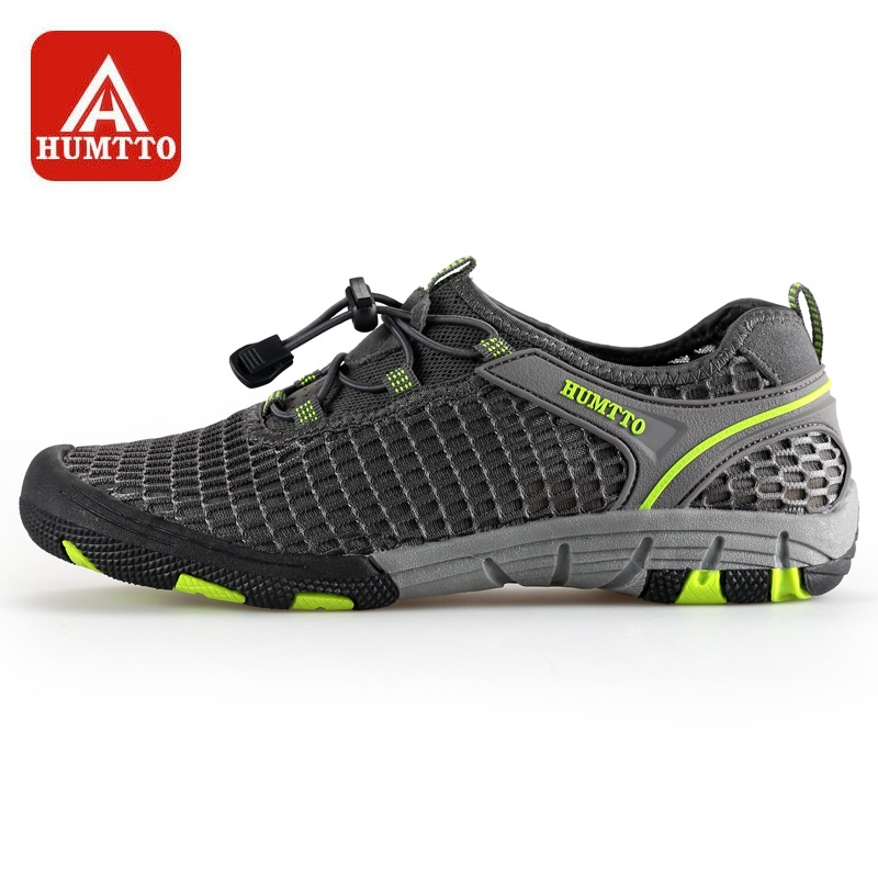 2bb6c2e47290 HUMTTO Outdoor Aque Shoes Men Summer Breathable Quick-drying Elastic Band  Anti-skid Fishing Wading Shoe
