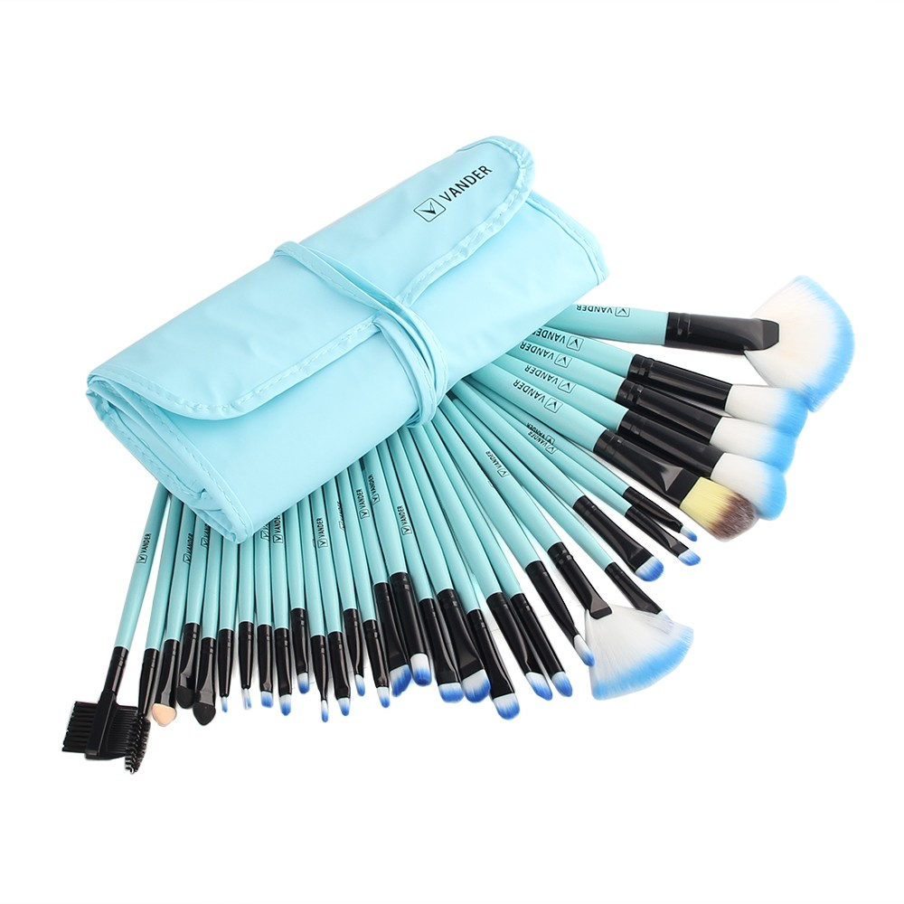 VANDER 32Pcs Set Professional Makeup Brush Foundation Eye Shadows Lipsticks Powder Make Up Brushes Tools w