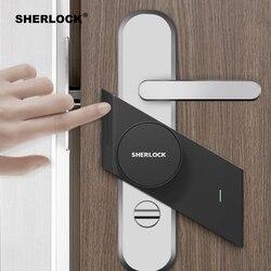 شيرلوك S2 قفل باب ذكي المنزل بدون مفتاح قفل بصمة + كلمة العمل إلى قفل الباب الالكتروني اللاسلكية App بلوتوث التحكم