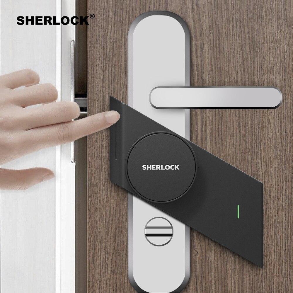 Sherlock S2 serrure de porte intelligente maison serrure sans clé empreinte digitale + mot de passe travail à la serrure de porte électronique App sans fil contrôle Bluetooth