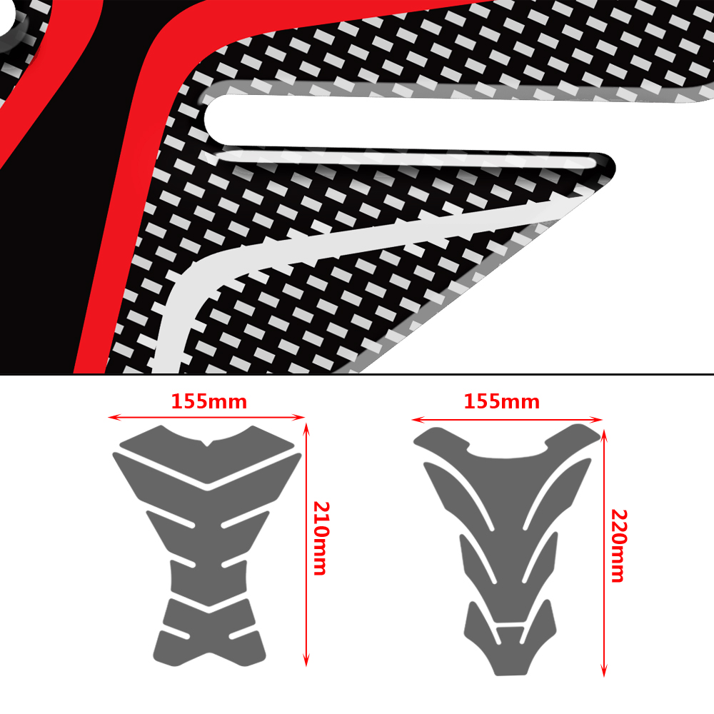 3D Epoxy Gel Fuel Gas Tank Pad Sticker Decals for Yamaha MT 09 07 03 FZ