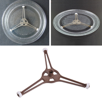 Microwave Oven Triangle Shaped Tray For Microwave Parts 24.5cm Flat Glass Plate Beauty Tools