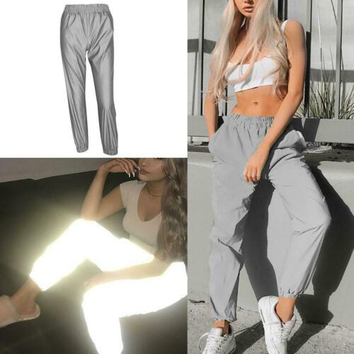 Fashion Casual Sexy Women Summer Flash Pants Hip-Hop Jogging Sport Cycling Reflective Streetwear Trousers