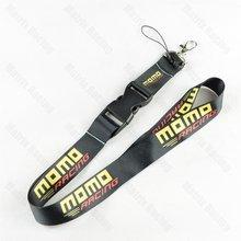 Jdm estilo momo logo cordão celular, jdm reconexão, corrida, carro, chaveiro, id, correia de pescoço móvel, com liberação rápida