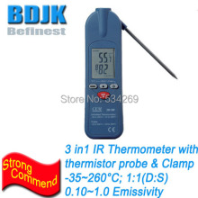 3 In 1 InfraRed Thermometers with thermistor probe & Clamp