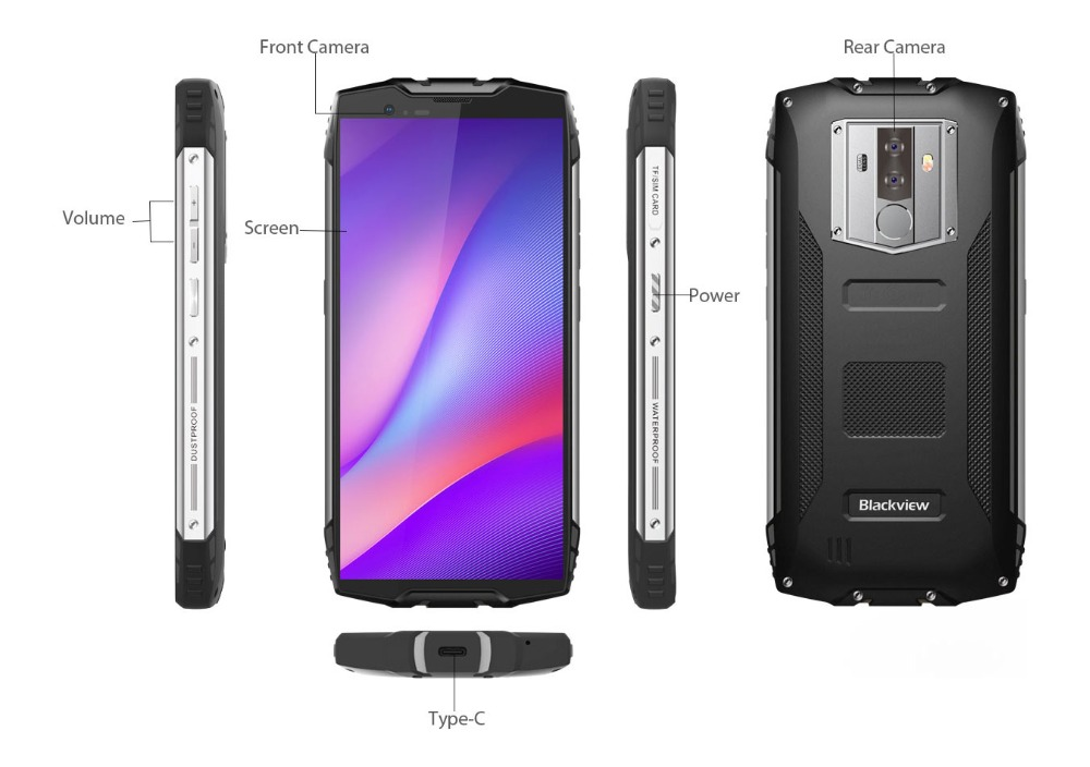 """HTB16F4FKruWBuNjSszgq6z8jVXaP Blackview BV6800 Pro Android 8.0 Outdoor Mobile Phone 5.7"""" MT6750T Octa Core 4GB+64GB 6580mAh Waterproof NFC Rugged Smartphone"""