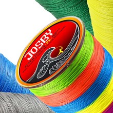JOSBY 4 Strands 8 Strands Multicolour PE Braided Wire Multifilament Japan Super Strong For carp Fishing Line 300M 500M 1000M