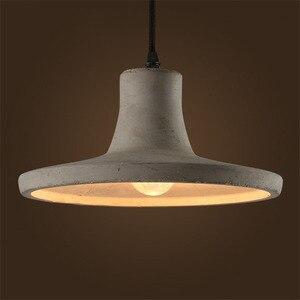 Image 1 - Luzes pingente de cimento criativo do vintage lâmpadas pingente de concreto industrial cinza pendurado luzes edison lâmpadas