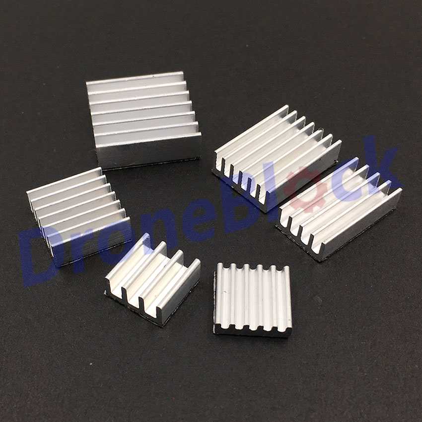 20 Pcs/ Lot Heatsink Heat Sink Small Fin Radiator With Adhesive
