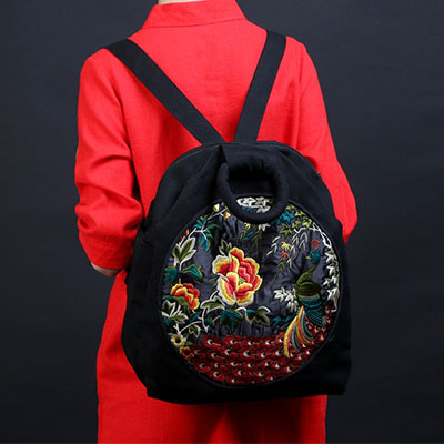 XIYUAN BRAND embroidery printing backpack junior high school students schoolbag laptop bag back pack schoolbag for girls gift