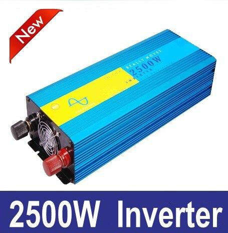 цена на 2500w pura sinus inverter 2500W pure sine wave power inverter 12V 220V
