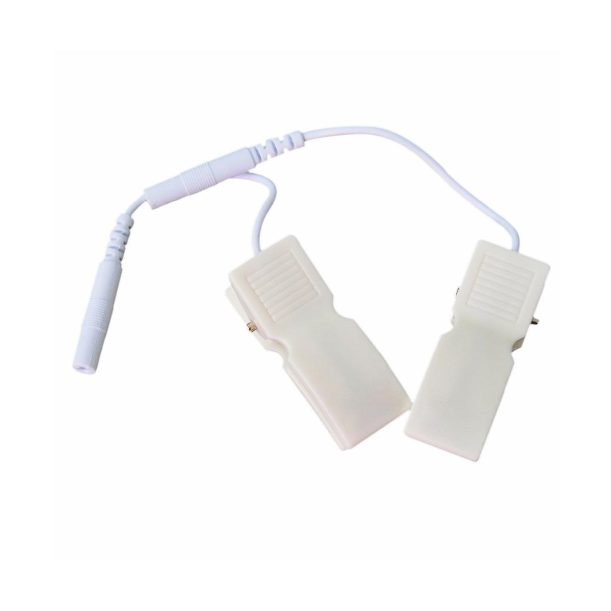 100 пар/упак. электрод десятки массажер уха клип жильный кабель Pin 2,5 мм электрода Pad Connector Замена Кабели для десятки