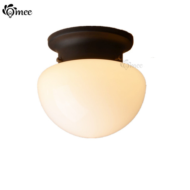 Blanc Noir Champignon LED Plafond Lampe En Verre Porte D entrée