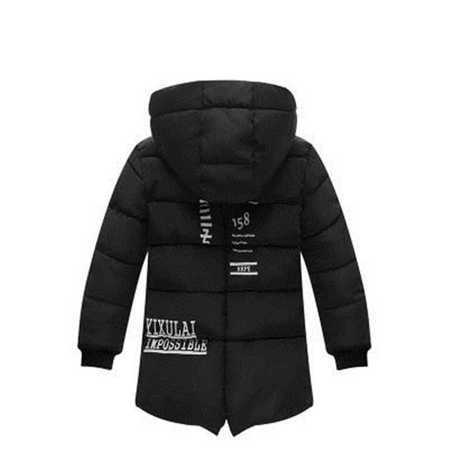 Kids Winter Jacket For Boy Warm Hooded Down jackets For Boys Jacket Teens Boy Zipper Coat Children Winter Clothing Boys Coat 2