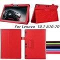 Новый для lenovo Tab2 A10 70 смарт крышки случая кожи Сальто для lenovo tab 2 a10-70 A10-70F A10-70L tablet 10.1 ''tablet случае