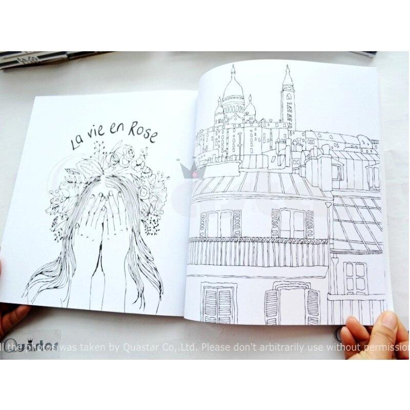 96 páginas París secreto libro para colorear para niños adulto moda ...
