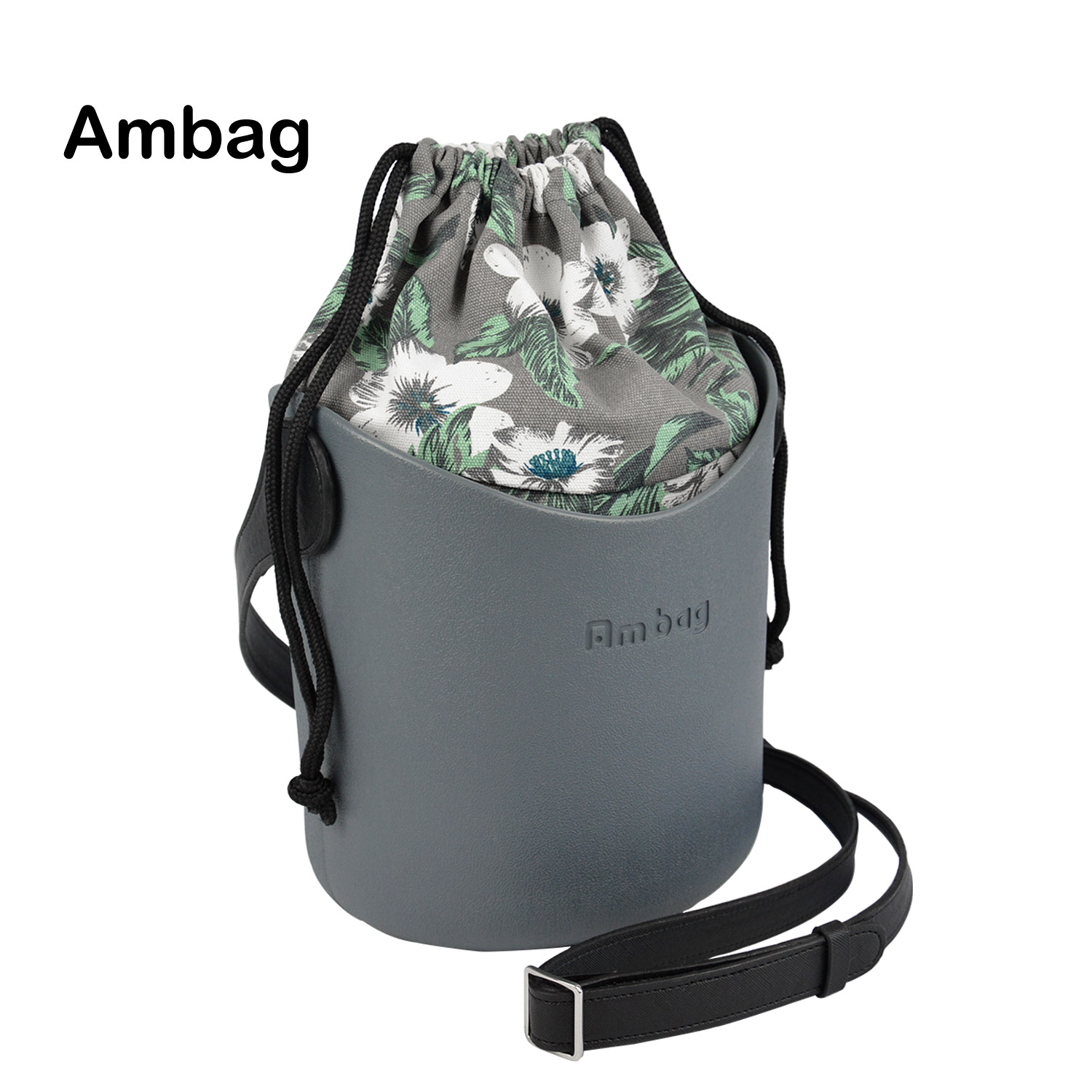 2019 New Obag Style Ambag EVA O bag Basket Obag Style Basket with Handles Straps Canvas