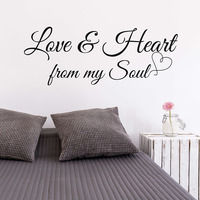 Love Heart From My Soul Love Quotes Romantic Love Quotes Wall Sticker Wedding Decor Love Quotes