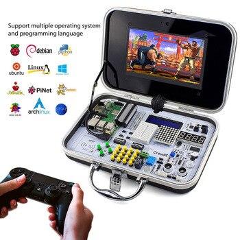 Elecrow Crowpi все-в-одном дизайн 7 дюймов HD сенсорный экран компактный Raspberry Pi обучающий комплект DIY компьютерные стартовые комплекты