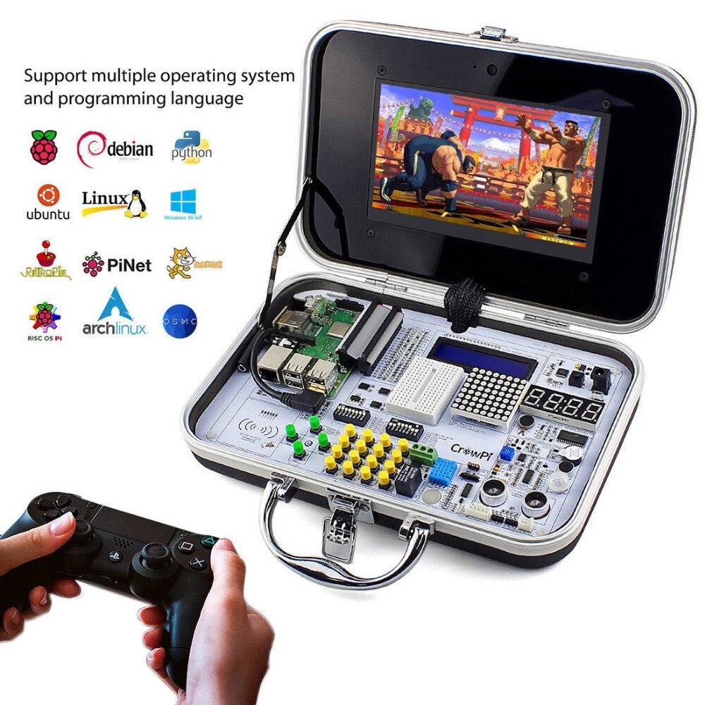 Elecrow Crowpi TOUT-EN-UN Design 7 pouces HD écran tactile Compact Framboise Pi Éducatifs kit d'apprentissage bricolage Ordinateur Démarreur kits