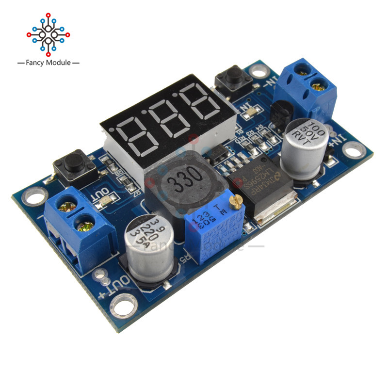 DC 4.0~40 to 1.3-37V LED Voltmeter Buck Step-down Power Converter Module LM2596 lm2596 module dc dc step down converter power supply module lm2596 dc 4 0 40 to 1 3 37v adjustable voltage regulator