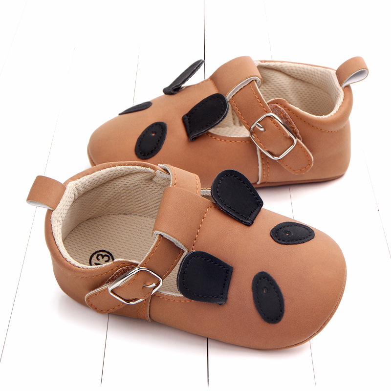 Baby First Walkers Matte leather Shoes for Baby Girl Boy Cartoon Animal Newborn Slippers Footwear Booties Kids Gift Child Shoes (38)