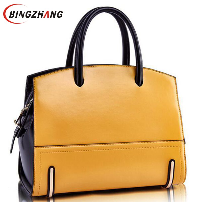 Luxury Leather Bags Female Tote Big Women Handbags Ladies Famous Brands Shoulder Bags For Women Messenger Bag L4-2017 new genuine leather bags for women famous brand boston messenger bags handbags tassel tote hand bag woman shoulder big bag bolso