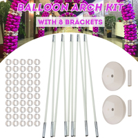 Balloon Column Stand Kits Arch Stand with 10 Bracket 2 Base 50 Buckle and 2 Connector for Wedding Birthday Party Decoration