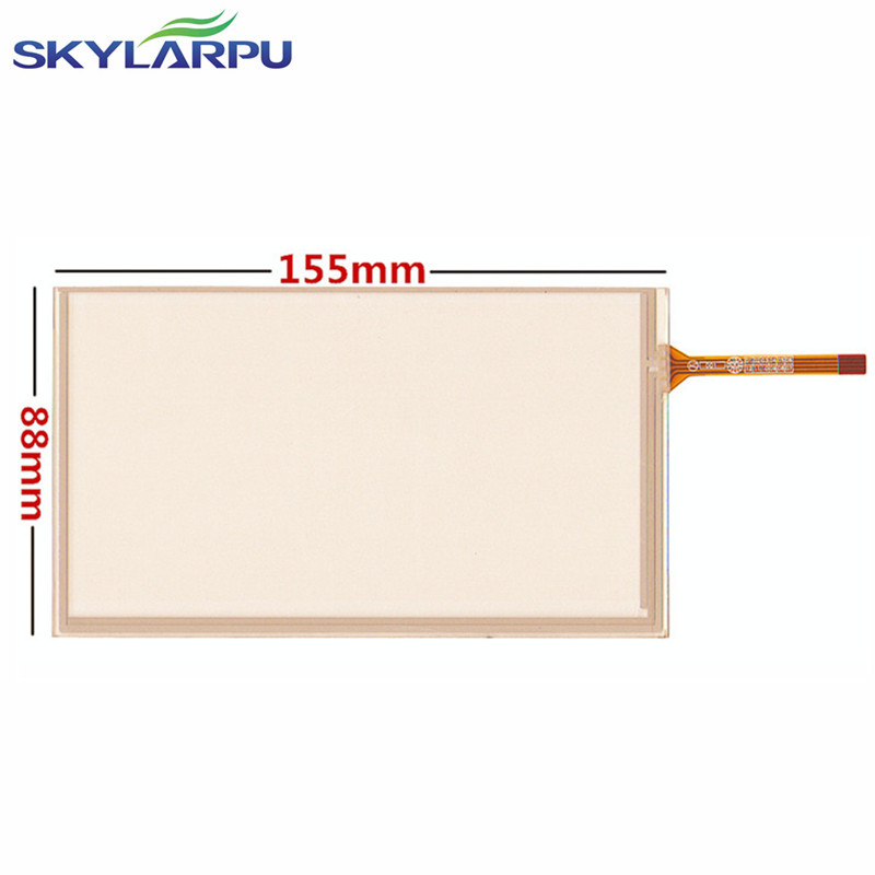 skylarpu 6.2 inch car navigation DVD reading machine repeater 155mm*88mm touch screen GPS touch screen 155*88mm ...