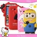 Free shopping for huawei Y511 mobile phone case for huawei y511 protective case cell phone case silica gel set