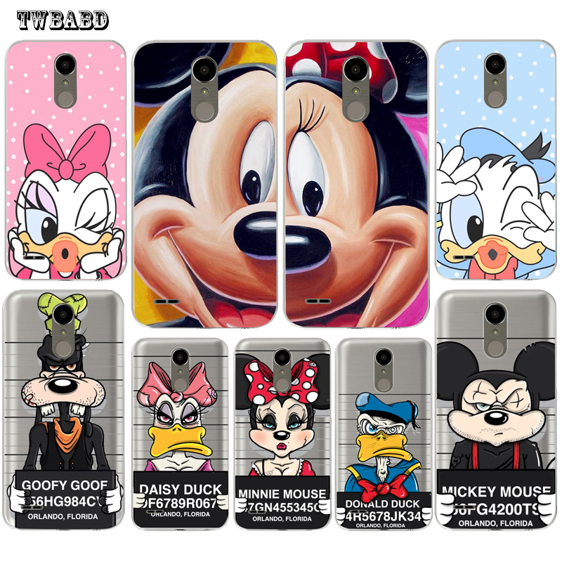 Spoof Minnie Mickey Mouse Phone case For LG Q6 Q8 G4 G5 G6 K4 K7 K8 K10 2017 X Screen Power 2 Soft TPU shell for LG K4
