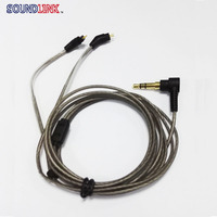 Free Shipping Upgrade Silver Plated 2 Pin IEM Cable Without Mic Headphone Wires 0 78mm Pin
