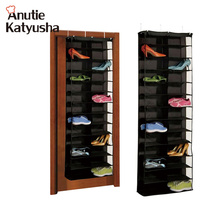 1Pc 26pairs Shoes Hanger Storage Bags Over The Door Hanging Organizer Groceries Rack Space Saver Boxes Home Organization