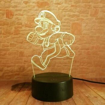 Lampe veilleuse Illusion 3D LED RGB Super Mario