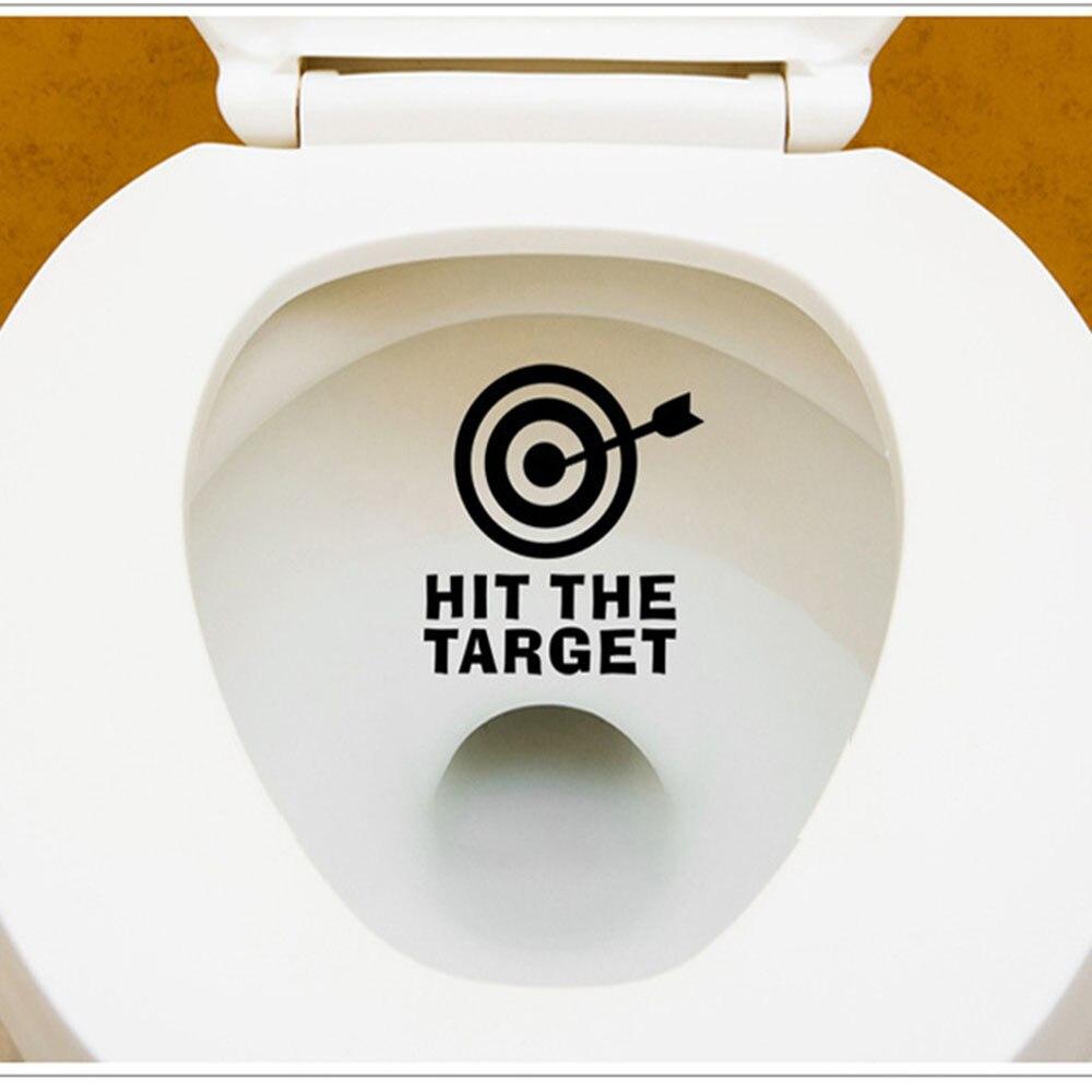Fashion Heaven 12*11CM DIY Arrow&Target Toilet Seat Bathroom Sticker Home Refrigerator Wall Decal Art 2017 o9