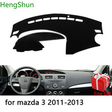 Para mazda 3 2011 2012 2013 estilo do carro traço esteira dashmat painel adesivo capa sun sombra traço placa capa tapete