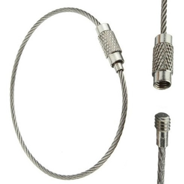 aliexpress com   buy 5 pcs stainless steel wire 1 5mm diameter outdoor keychain cord camping