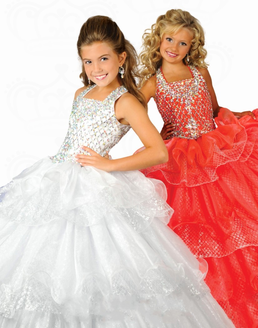 2016 New Lovely Beautiful Ball Gown Organza Flower Girl Dress Royal Blue  Beaded Shirred Kids Pageant Gown For Children VB107-in Flower Girl Dresses  from ... 05c82d67de97