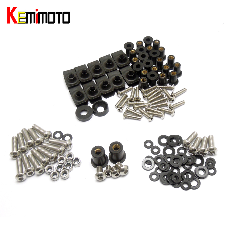 KEMiMOTO For Ducati 748 996 916 998 Motorcycle Fairing Bolt Screw Fastener Nut Washer For Ducati 748 996 916 998 1993-2003