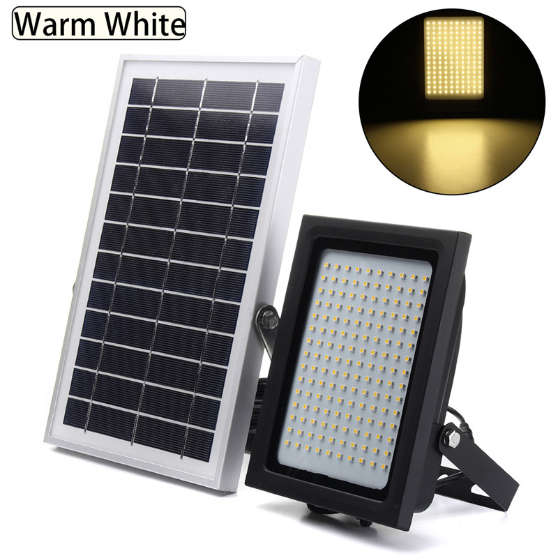 Smuxi 150 LED 3528 Solar Powered Flood Light Sensor Outdoor Garden Path Street Spotlight Security Lamp Waterproof