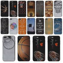Yinuoda Nero soft shell campo da basket Per iphone S5 5 SE X XS XR XSMAX 7 7 plus 8 8 più di 6 s 6 PLUS 6 phome caso(China)