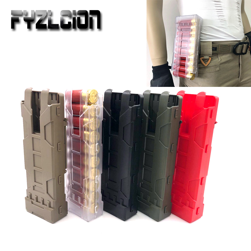 2PC Tactical Hunting Shotgun Magazine Pouch 10 Rounds 12GA 12 Gauge Ammo Shells Molle Gun Accessories image