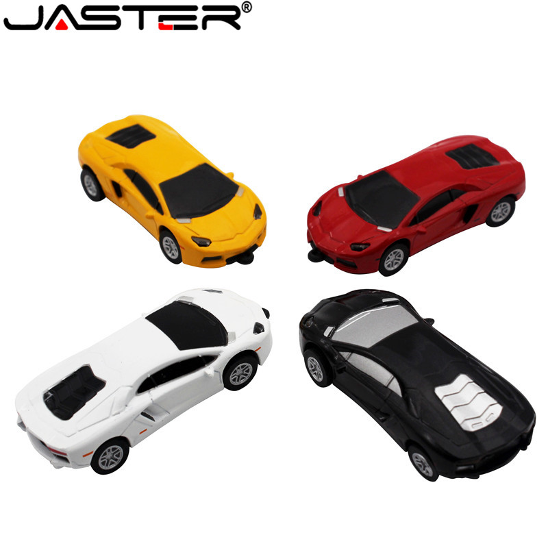 New Cool White Car Model USB 2 0 Full Memory Stick Flash Disk Pen Drive 8GB 16gb 32gb Usb Flash Drive Free Shipping Toy U Disk
