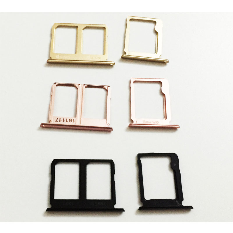 10 Pcs/Lot, SIM Card Reader Sim Tray Holder Adapter Sim Slot For Samsung Galaxy C9 Pro Replacement Black/Gold/Rose Gold