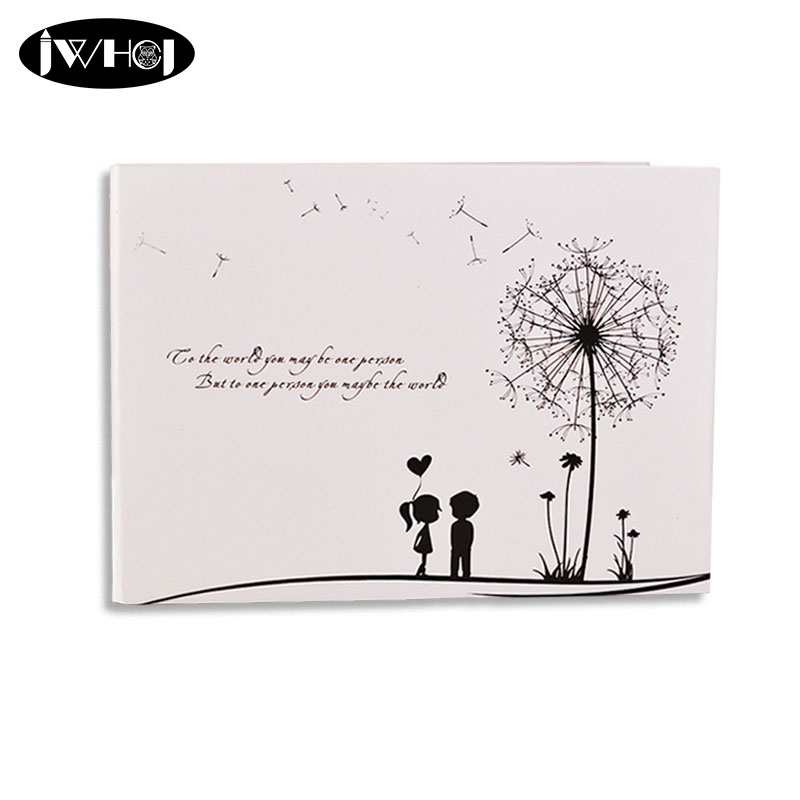 Dandelion couples 10inch Photo Album diy Wedding Photos Family Memory Record Album diy Sticky Type album scrapbook Free shipping in Photo Albums from Home Garden
