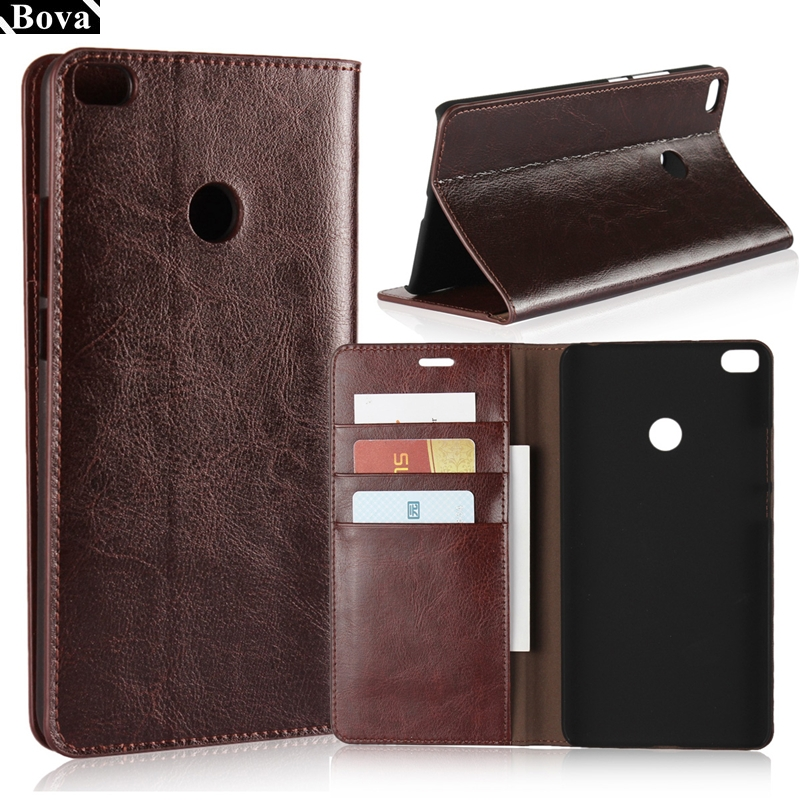Deluxe Wallet Case For Xiaomi Max2 premium leather Case For Xiaomi Mi Max 2 Flip Cover Bags