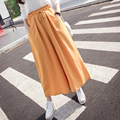 Kesebi 2017 Summer New Hot Fashion Women High-waisted Elegant Chiffon Wide Leg Pants Female Casual Bottoms Trousers JE220#8511