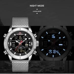 Image 3 - Luxury Brand NAVIFORCE Men Watch Analog Digital Watches Mens Stainless Steel Sport Waterproof Wristwatch Relogio Masculino 2020