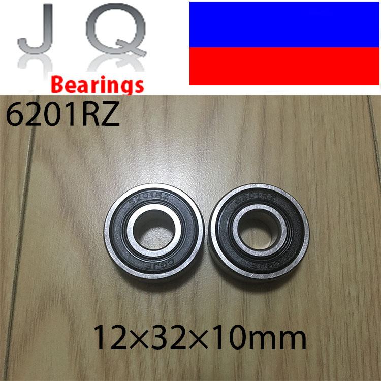 JQ Bearings Free Shipping 10 Pieces 6201 6201RS 6201RZ 6201-2RS1 6201-2RS 12x32x10 Shielded Deep Groove Ball Bearings gcr15 6036 180x280x46mm high precision deep groove ball bearings abec 1 p0 1 pcs